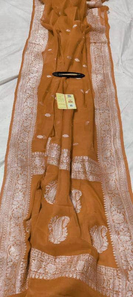Banarasi Khaddi Chiffon Georgette Silk Saree in Peru - Saree - FashionVibes