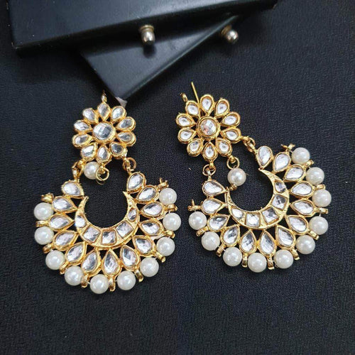 Beads and Kundan Earrings in - Jewelry - FashionVibes