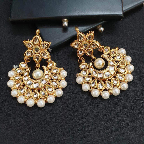 Beads with Kundan Earrings in - Jewelry - FashionVibes