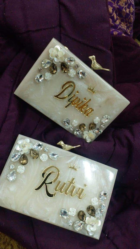 Velvet Wedding Clutch