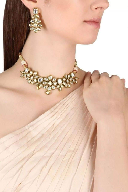 Beautiful Designer Kundan Necklace in - Jewelry - FashionVibes