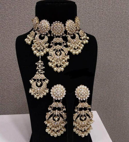 Beautiful Polki Wedding Set in - Jewelry - FashionVibes