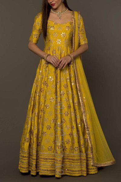 Pure Georgette Floor Length Anarkali Suit