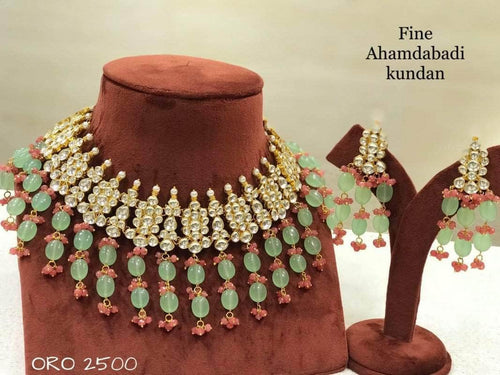 Beautifully Crafted Kundan Choker in - Jewelry - FashionVibes