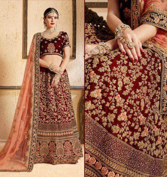 Deepjyoti Creation Designer Bridal Lehanga in - Lehenga - FashionVibes