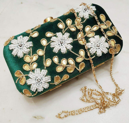 Embroidered Sequins Zari Work Potli Bag
