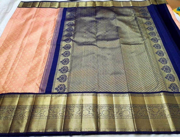 Designer Kanjivaram Pure Silk Saree in - Saree - FashionVibes