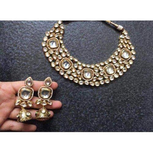 Designer Kundan Heavy Set with Matching earrings in - Jewelry - FashionVibes