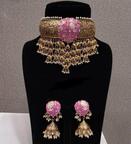 Premium Quality Hand Finished Kundan Meena Jwelery Set