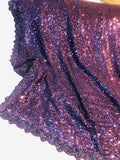 Designer Sequin Saree in Mauve - Saree - FashionVibes