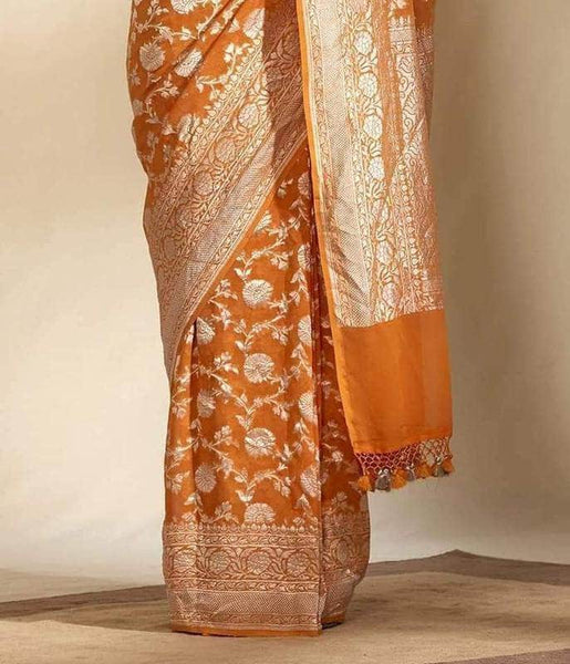 Exclusive Banarasi Khaddi Chiffon Georgette Silk Saree in - Saree - FashionVibes