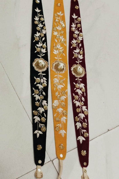 Hand Embroidered Luxury Dress Belts in - - FashionVibes