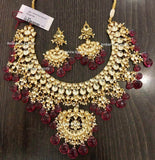 High quality Kundan Jewlery Set in Gold - Jewelry - FashionVibes