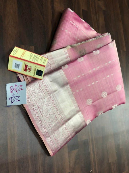 Kancheepuram Silk Handloom  Saree in - Saree - FashionVibes