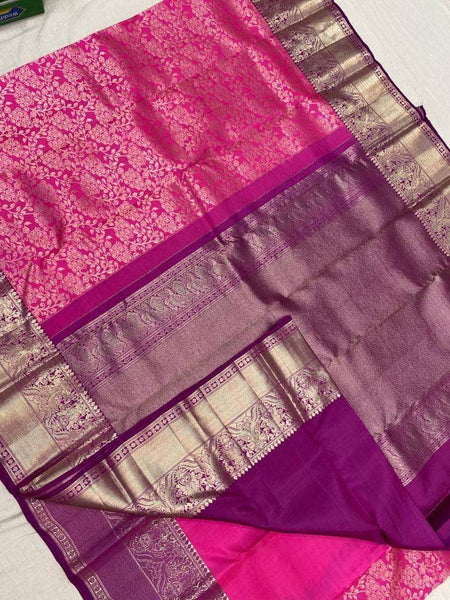 Pure Brocade South Silk Sarees with Rich Pallu