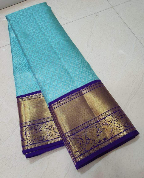 Kanjivaram Silk Saree in - Saree - FashionVibes