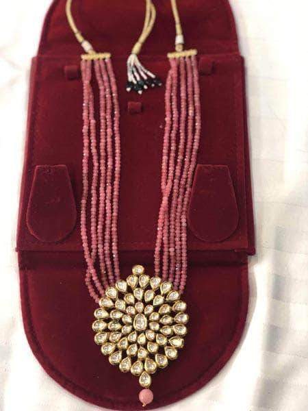 Kundan Necklace Set in - Jewelry - FashionVibes
