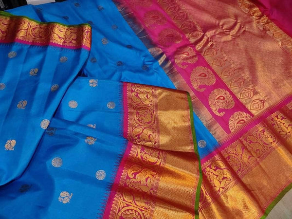 New Trendy Gadwal Pure Silk Saree in - Saree - FashionVibes