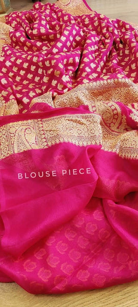 Pure Banarasi Handloom Silk Border Sarees in - Saree - FashionVibes