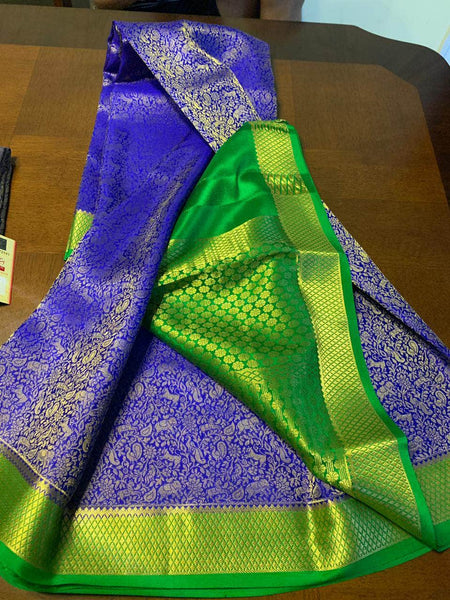 Pure Brocade South Silk Sarees with Rich Pallu in - Saree - FashionVibes