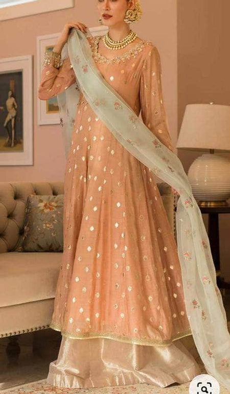 Georgette Lucknowi Sharara Set
