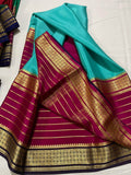 Pure South Silk Sarees in Sky Blue - Saree - FashionVibes