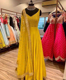 Raw Silk Anarkali in - Salwar Suit - FashionVibes