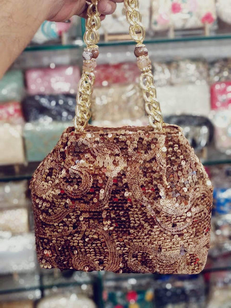 Shiny Shimmery Potli Bag in - Shoes & Cluthes - FashionVibes