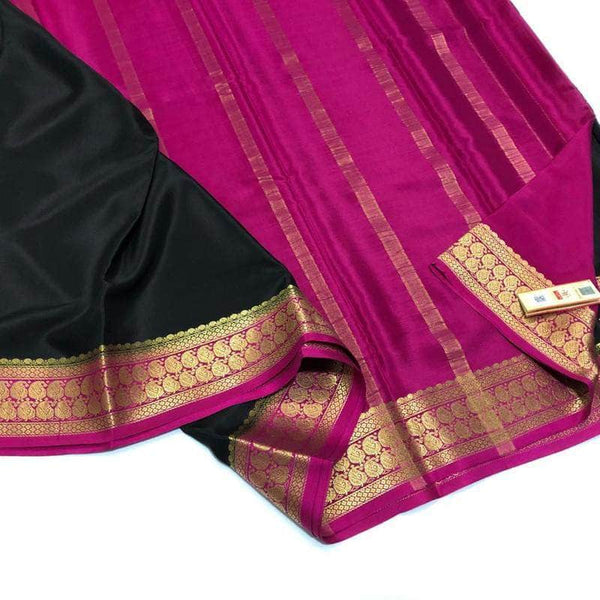 South Silk Saree in Black - Saree - FashionVibes
