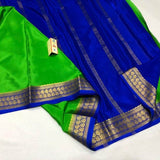South Silk Saree in LawnGreen - Saree - FashionVibes