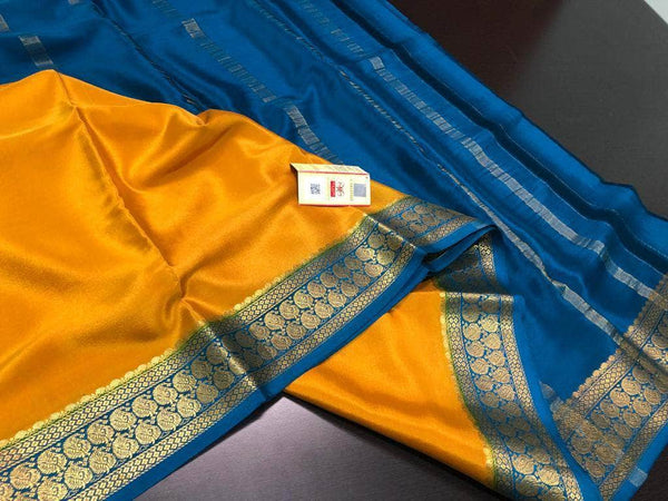 South Silk Saree in RoyalBlue - Saree - FashionVibes