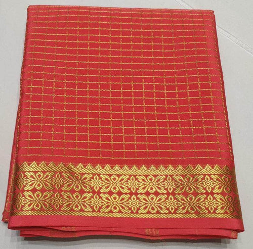 Traditional 120grm Thickness South Silk Saree in Red - Saree - FashionVibes