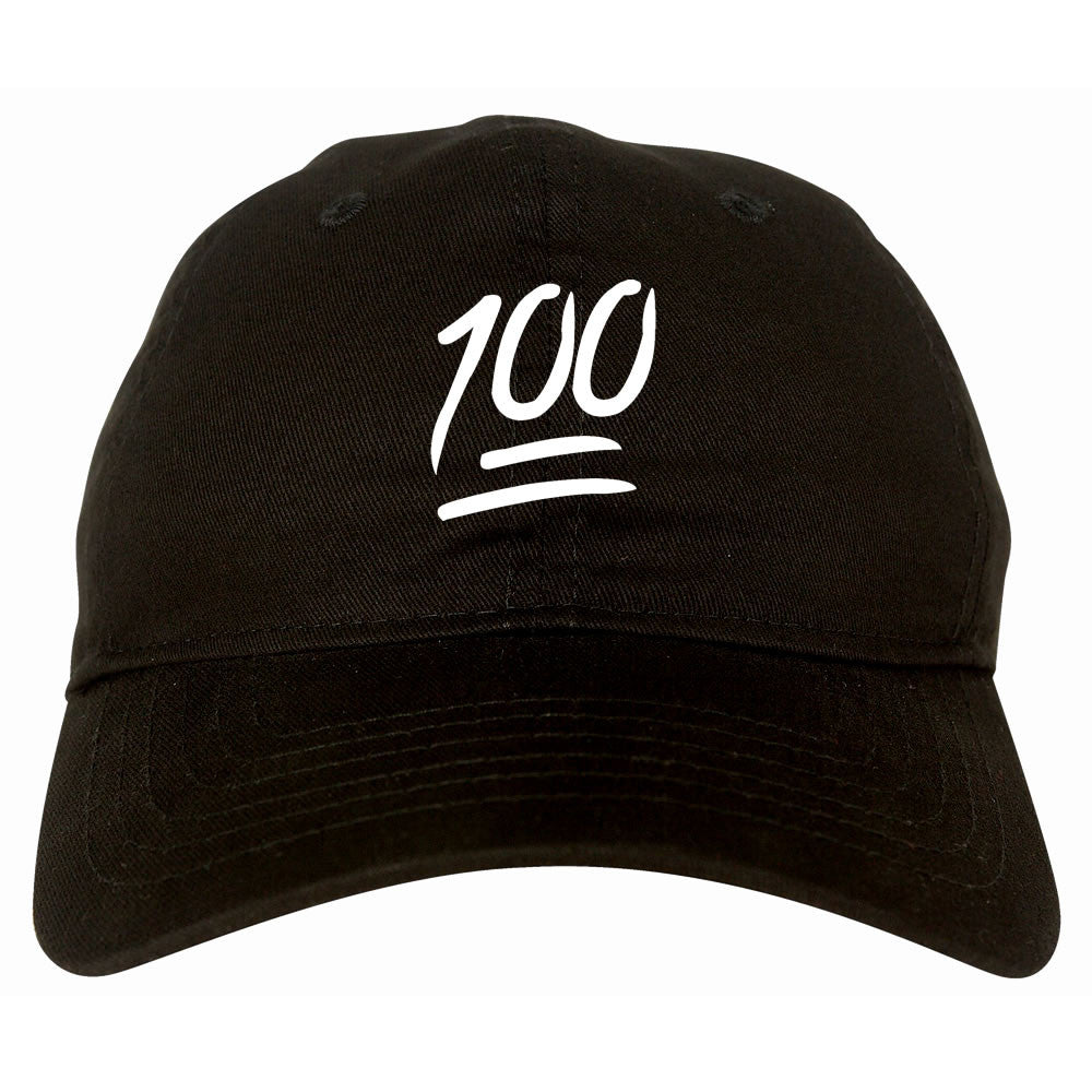 100 dad hat in Black