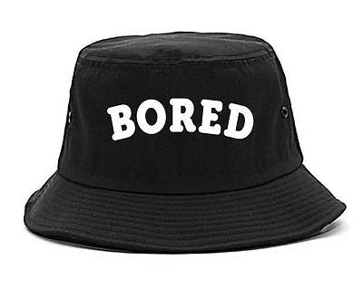 Very Nice Bored Arch Lazy Black Bucket Hat