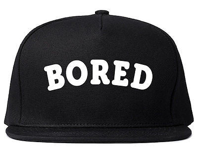 Very Nice Bored Arch Lazy Black Snapback Hat