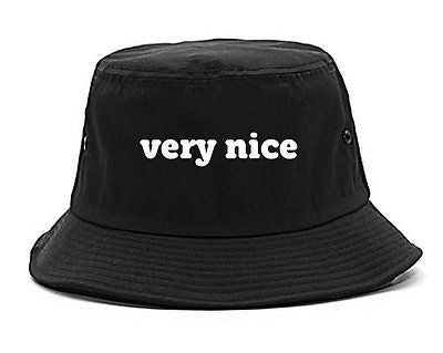 Very Nice Font Style Logo Black Bucket Hat