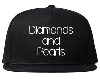 Very Nice Diamonds and Pearls Black Snapback Hat