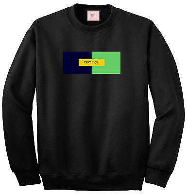 Very Nice Color Block Logo Boyfriend Crewneck Sweatshirt