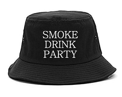 Very Nice Smoke Drink Party Black Bucket Hat