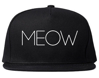 Very Nice Meow Cute Cats Kittens Black Snapback Hat