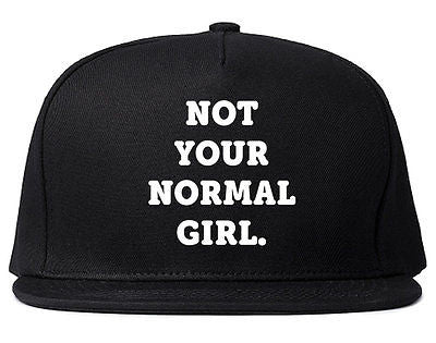 Very Nice Not Your Normal Girl Weird Snapback Hat