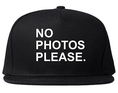 Very Nice No Photoes Please Blogger Snapback Hat