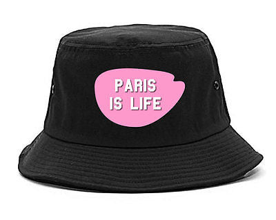 Very Nice Paris Is Life France Black Bucket Hat