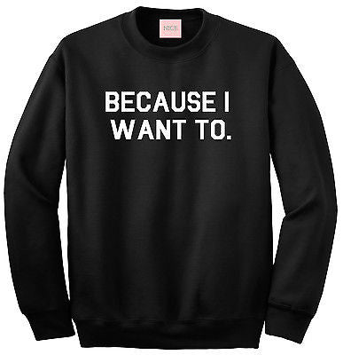 Very Nice Because I Want To Boyfriend Crewneck Sweatshirt