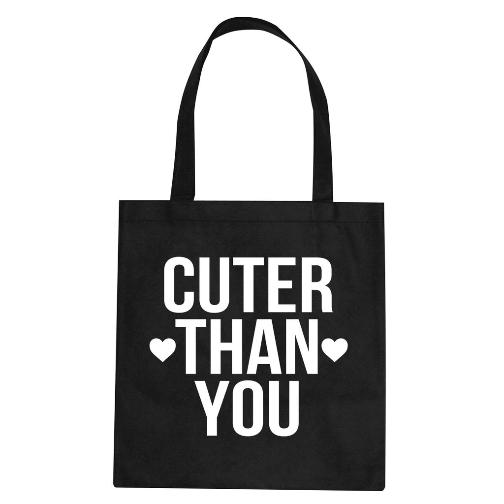 Cuter Than You Heart Tote Bag by Very Nice Clothing