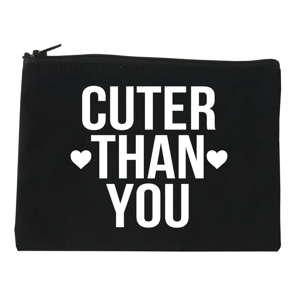 Cuter Than You Heart Cosmetic Makeup Bag by Very Nice Clothing