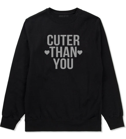 Cuter Than You Heart Crewneck Sweatshirt by Very Nice Clothing