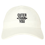 Cuter Than You Heart Dad Hat by Very Nice Clothing