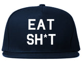Eat Sht Rainbow Snapback Hat by Very Nice Clothing