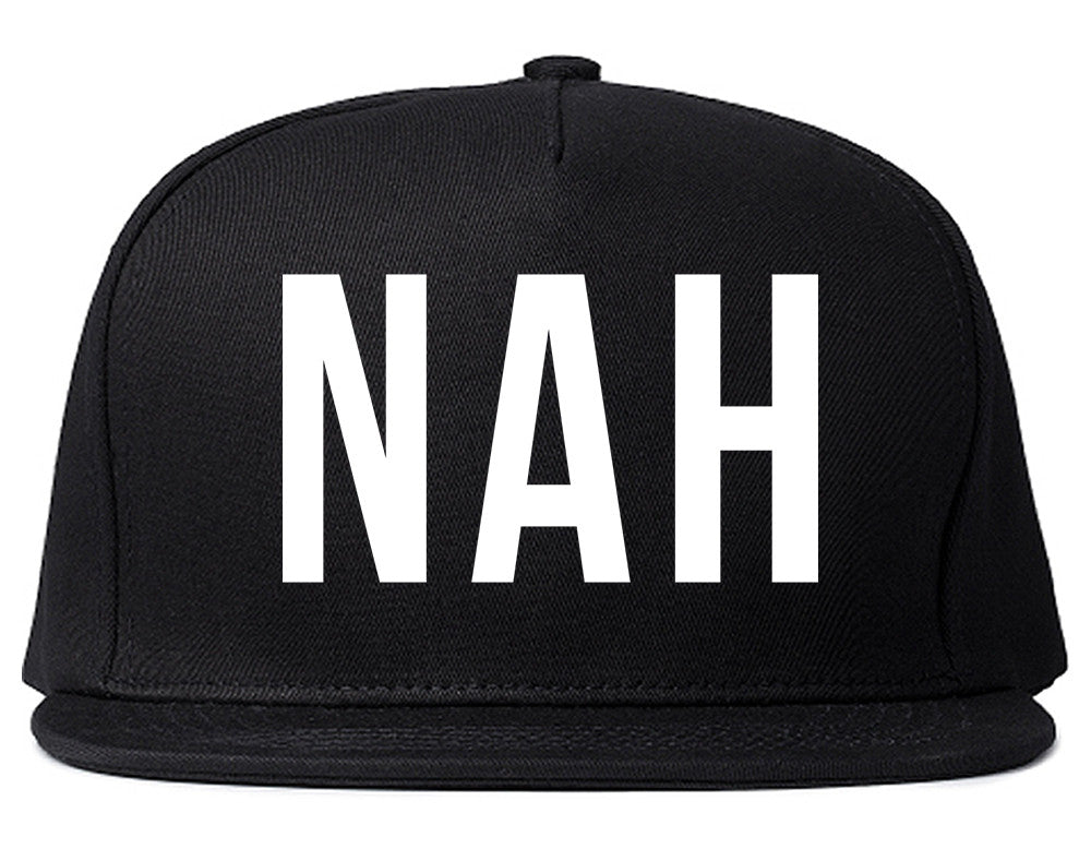 Nah 3D Snapback Hat by Very Nice Clothing